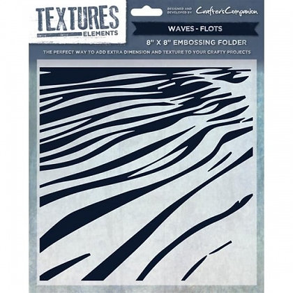 Crafters Companion Textures Folder - 8x8 - Waves