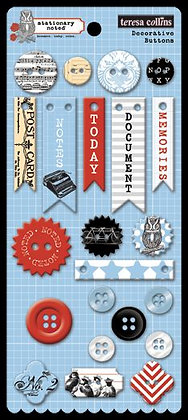 Teresa Collins Decorative Buttons - Stationery Noted