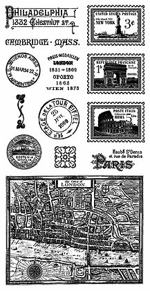 Graphic 45 Stamp Set - Cityscapes 2