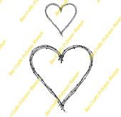 Bee Crafty Backdrops Frame Stamp - Wire Heart Sm/Med