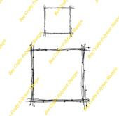 Bee Crafty Backdrop Stamp - Wire Frames Square Sm/ Med