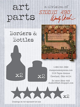 Studio 490 Art Parts Kit - Borders & Bottles