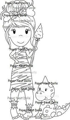 Paper Nest Dolls - Cavegirl Avery