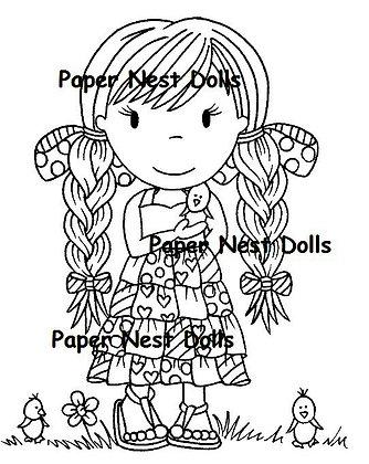 Paper Nest Dolls - Little Chicks Ellie