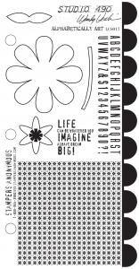 Studio 490 Stamps - Alphabetically Art