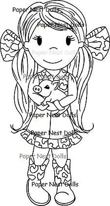 Paper Nest Dolls - Country Girl Avery
