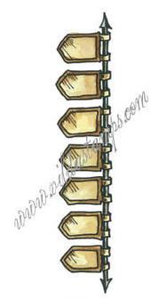 Vilda Stamps - Spear Banner