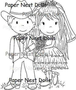 Paper Nest Dolls - Country Wedding
