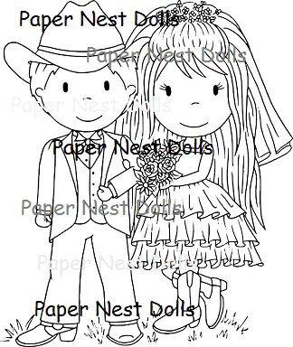 Paper Nest Dolls - Country Wedding