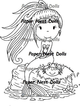 Paper Nest Dolls - Mermaid With Crab
