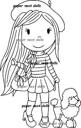 Paper Nest Dolls - French Girl Avery