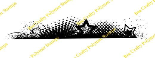 Bee crafty Backdrop Border - Distressed Stars