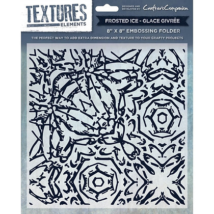 Crafters Companion Textures Folder - 8x8 - Frosted Ice