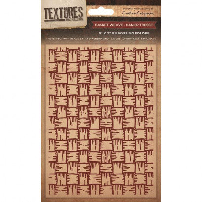 Crafters Companion Textures Folder - 5x7 - Basket Weave