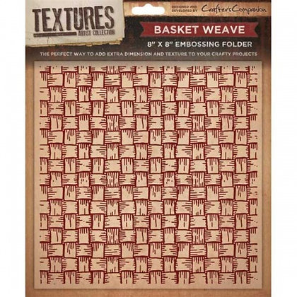 Crafters Companion Textures Folder - 8x8 - Basket Weave