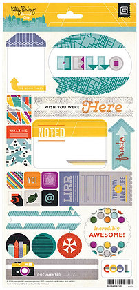 Basic Grey Title Stickers - Second City