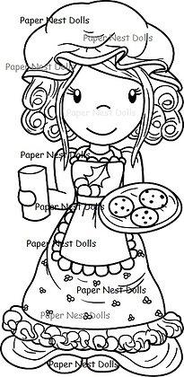 Paper Nest Dolls - Mrs. Claus