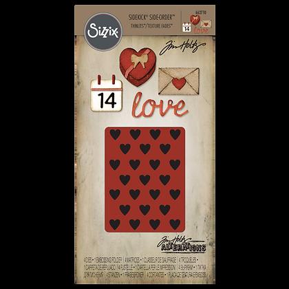 Sizzix Thinlits Tim Holtz Die & Embossing Folder Set -Valentine