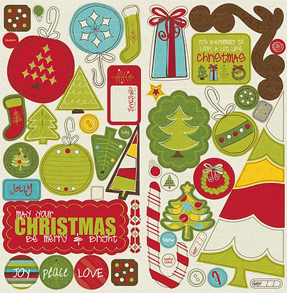Crate Paper Chipboard Accents - North Pole