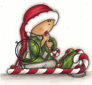 Vilda stamps - Elf with Candy Cane