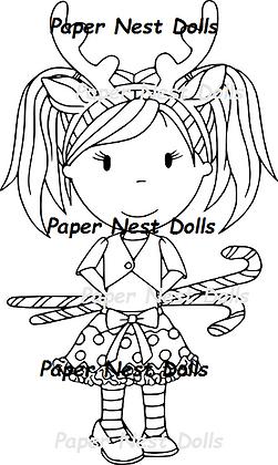 Paper Nest Dolls - Reindeer Emma