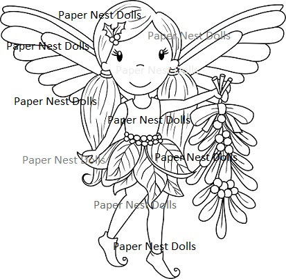 Paper Nest Dolls - Christmas Fairy