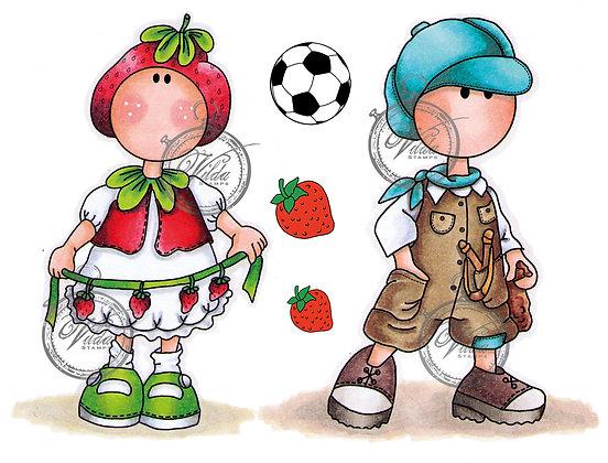 Vilda - Boy With Slingshot And Strawberry Girl