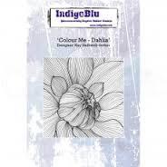 Indigo Blu Stamp - Dahlia