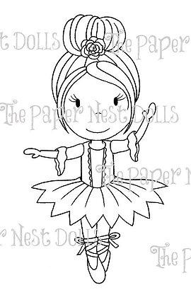 Paper Nest Dolls - Holiday Ballerina