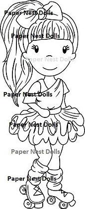 Paper Nest Dolls - Roller Skating Avery