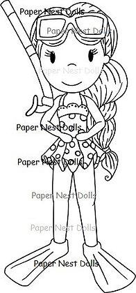Paper Nest Dolls - Snorkel Ellie