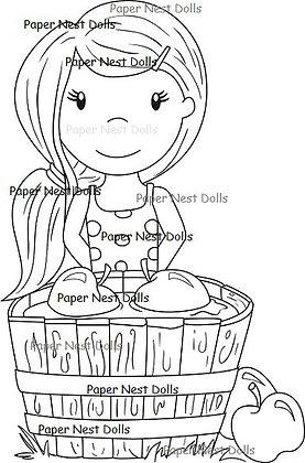 Paper Nest Dolls - Bobbing For Apples