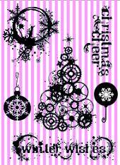 Vilda - Steampunk Christmas A6 Kit