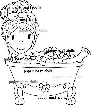 Paper Nest Dolls - Bath Time Emma