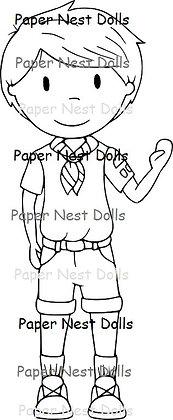 Paper Nest Dolls - Boy Scout Owen