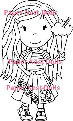 Paper Nest Dolls - Poodle Skirt Avery