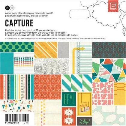 Basic Grey Paper Pad - 6x6 - Capture