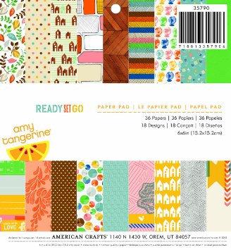 Amy Tangerine Paper Pad - 6x6 - Ready Set Go