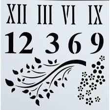 Indigo Blu Stencil - Roman Numeral