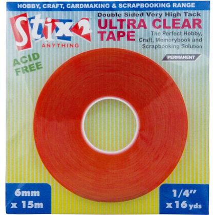 Stix 2 - Ultra Clear Red Line Tape - 6mmx15m