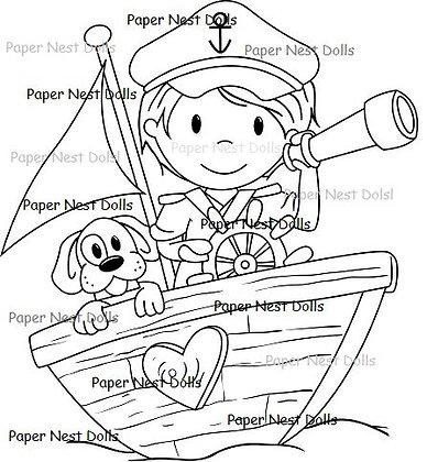 Paper Nest Dolls - Captain Owen