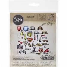 Sizzix Framelits Die Set by Tim Holtz - Crazy Things