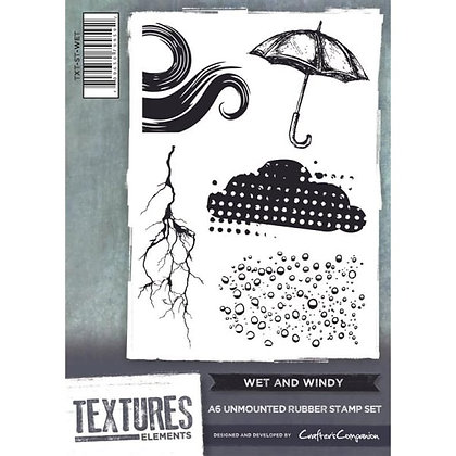 Crafters Companion Stamp Set - Wet & Windy