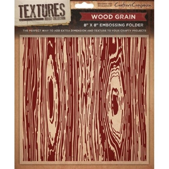 Crafters Companion Textures Folder - 8x8 - Wood Grain