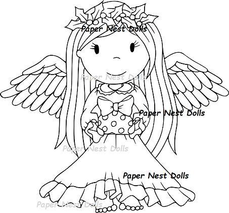 Paper Nest Dolls - Christmas Angel