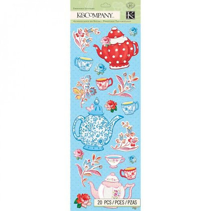 K & Co. Bloomscape - Embossed Stickers