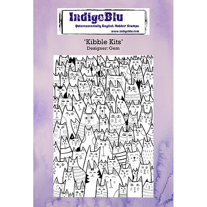 Indigo Blu Background Stamp - Kibble Kits
