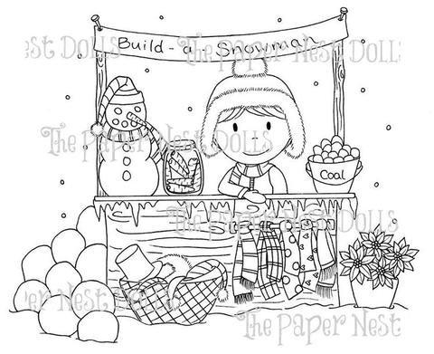 Paper Nest Dolls - Build A Snowman