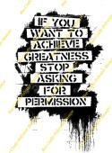 Inspired By Banksy Stamp - Greatness Words