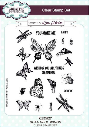 Creative Expressions Stamp Set - Beautiful Wings